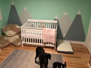 Building the nest - crib for baby girl